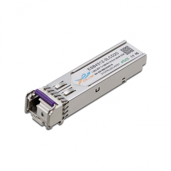 1.25G BiDi SFP TX1490/RX1310nm 40KM LC Optical Transceiver