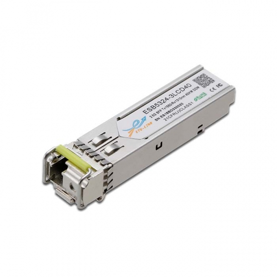 2.5G BiDi SFP TX1550/RX1310nm 40KM LC Optical Transceiver