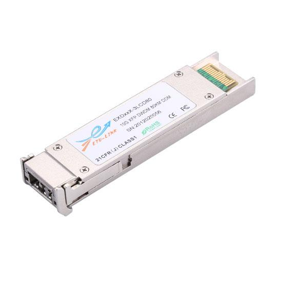 10G Tunable DWDM XFP 80KM LC Optical Transceiver